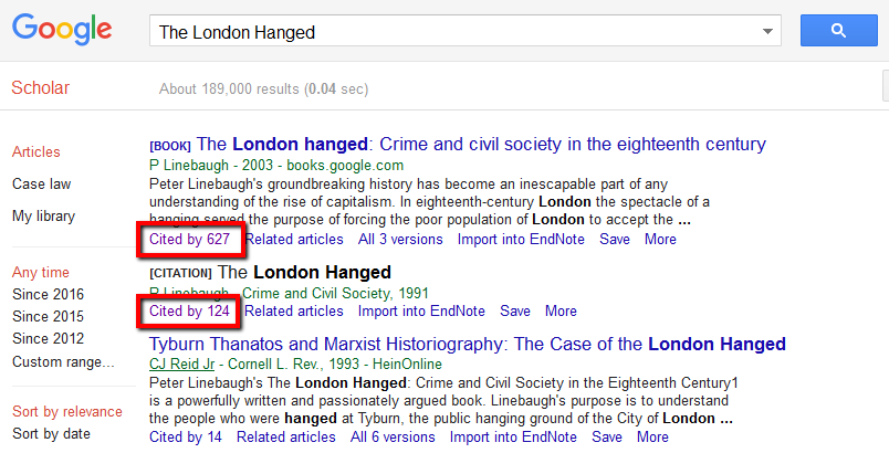 سایتیشن در گوگل اسکولار